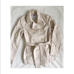 Gap Double Breasted Tan Trench Coat